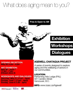 AGEWELL Chataqua Project Art exhibition, free workshops and community dialogues